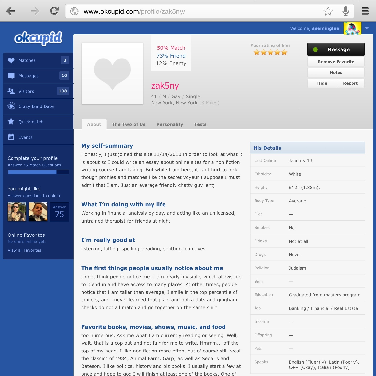 okcupid website