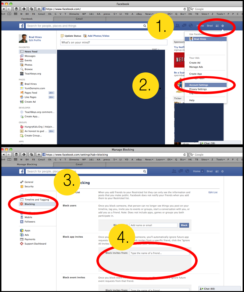how to block friend's game invites on facebook infographic