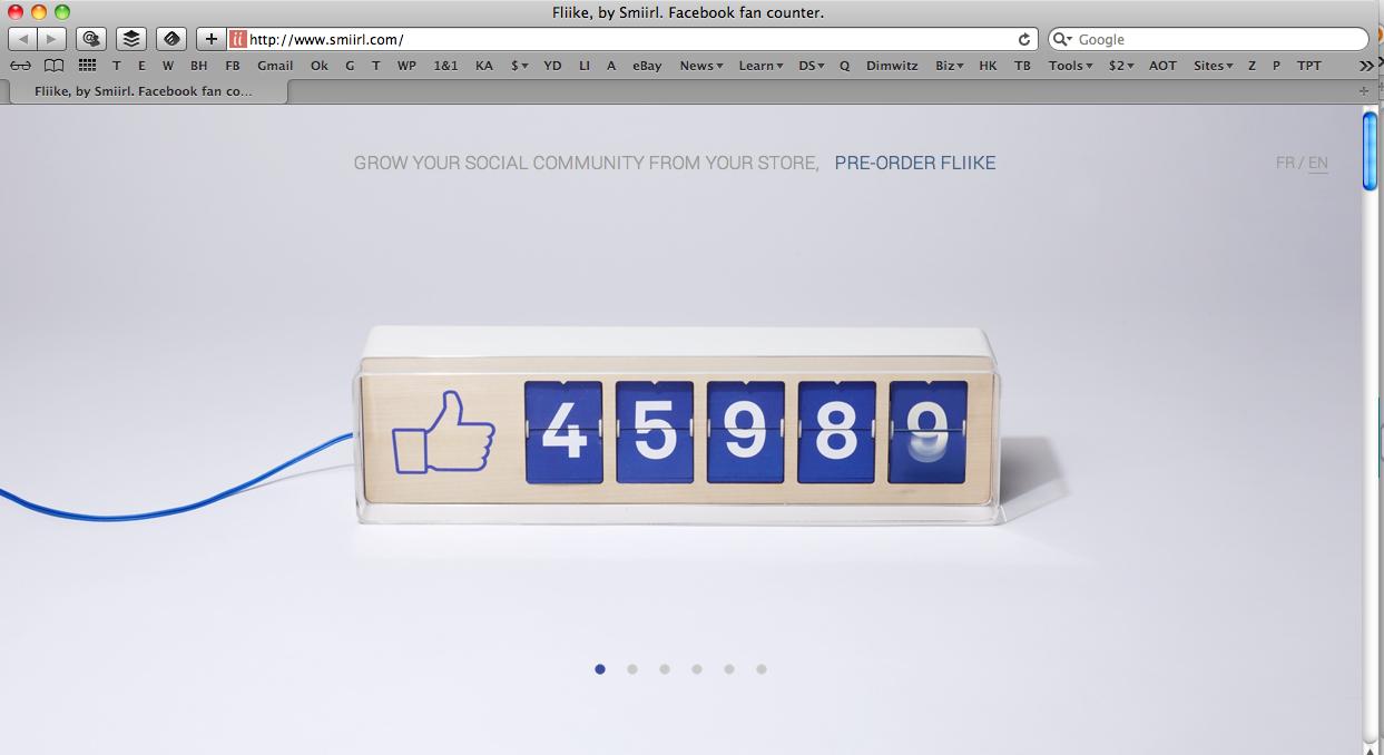 fliike facebook like counter