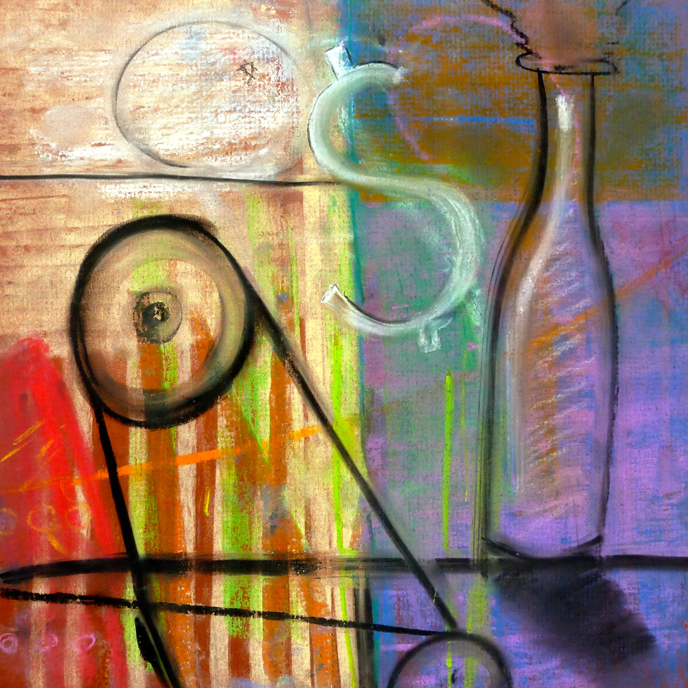 industrial alchemy pastel painting by brad hines