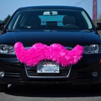 lyft pink mustache