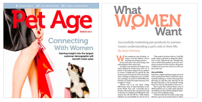 brad hines in pet age on marketing to women