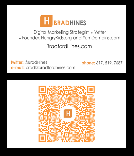 Bradfordhines marketing with and branding your marketing qr code business card reheart Images