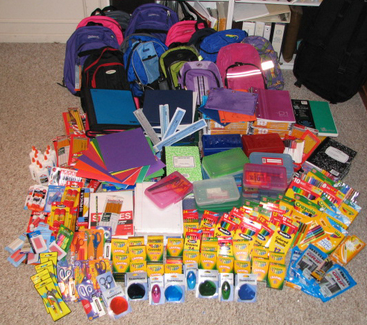 school supplies as holiday gifts