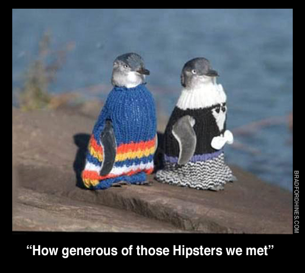 hipsters penguins etsy humor funny