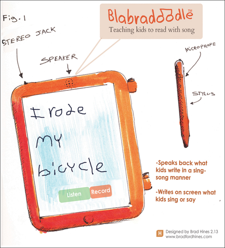 Blahbradoodle learning tablet by Brad Hines