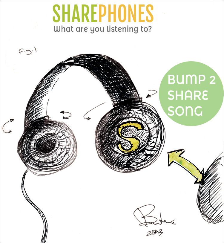 sharephones headphones by brad hines